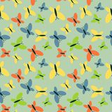 Butterflies pattern Stock Photography