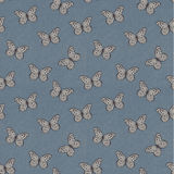 Damask Butterflies Pattern Stock Photo