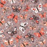 Butterflies pattern. Royalty Free Stock Photo