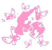 Butterflies and pink blot Stock Photos