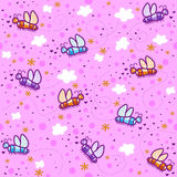 Butterflies on a pink sky Royalty Free Stock Image