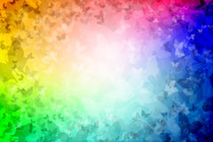 1000 Butterflies Rainbow colored Background Stock Photos