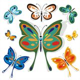 Butterflies School Set One Royalty Free Stock Photo