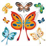 Butterflies School Set Two Royalty Free Stock Photos