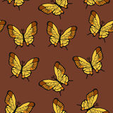 Butterflies seamless. Seamless texture of flying butterflies Stock Illustration