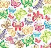 Butterflies seamless background Royalty Free Stock Image