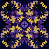 Butterflies. Seamless kaleidoscopic  pattern Royalty Free Stock Photos
