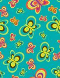 Butterflies seamless pattern. Seamless pattern with styled butterflies Stock Image