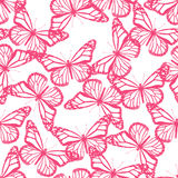 Butterflies seamless pattern. Abstract butterflies seamless pattern on white background. Vector illustration Royalty Free Stock Image