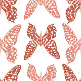 Butterflies seamless pattern Royalty Free Stock Images