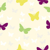 Butterflies Seamless Pattern. A simple butteflies seamless pattern Stock Photos