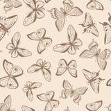 Butterflies seamless pattern. Royalty Free Stock Photo