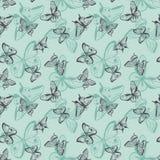Butterflies seamless pattern. Stock Image