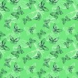 Butterflies seamless pattern. Stock Photos