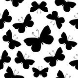 Butterflies. Seamless vector pattern. Royalty Free Stock Images