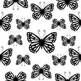 Butterflies. Seamless vector pattern. Royalty Free Stock Photos