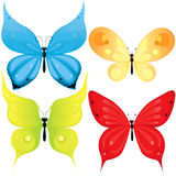 Butterflies set. Stock Photos