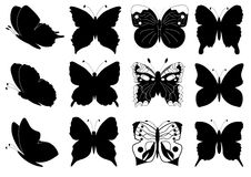 Butterflies set for design Royalty Free Stock Image