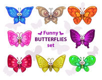 Butterflies set Stock Photography