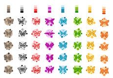Butterflies Set Group - illustration Royalty Free Stock Image