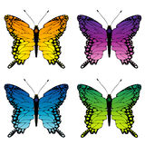 Butterflies set Royalty Free Stock Image
