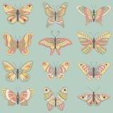 Butterflies set Royalty Free Stock Photo