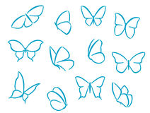 Butterflies silhouettes Stock Image