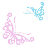 Butterflies silhouettes isolated on white background. Easy to edit, individual objects. Butterflies silhouettes isolated on white background in format easy to vector illustration