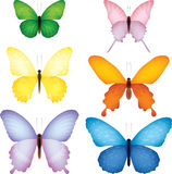 Butterflies. Six colorful butterflies. Illustration contain transparencies and is saved as Illustrator 10 format Vector Illustration