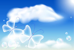 Butterflies in the sky Royalty Free Stock Images