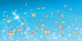 Butterflies in the sky. Concept of Stock Photography
