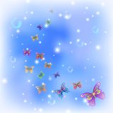 Butterflies on sky Royalty Free Stock Images