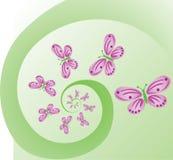 Butterflies on a spiral Stock Photos