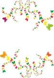 Butterflies in spirals Stock Photo