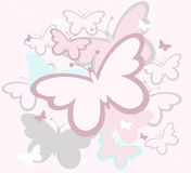 Butterflies spring design Stock Photos