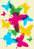 Butterflies spring pattern Royalty Free Stock Images