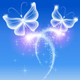 Butterflies and stars Royalty Free Stock Images