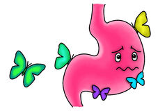 Butterflies in the stomach royalty free illustration