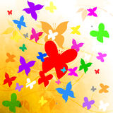 Butterflies Summer Shows Summertime Hot And Flying Royalty Free Stock Images