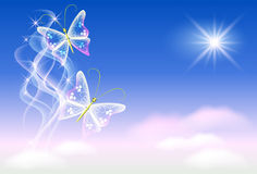 Butterflies and sunshine Stock Photo