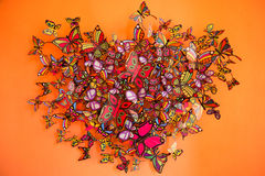 Butterflies swarm Royalty Free Stock Photography