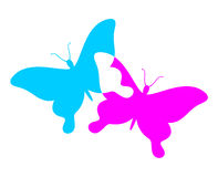 Butterflies symbol Royalty Free Stock Photo