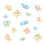 Butterflies (vector) Royalty Free Stock Image