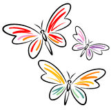 Butterflies (Vector). This is a vector image - you can simply edit colors and shapes stock illustration