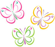 Butterflies (Vector) Royalty Free Stock Photography