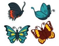 Butterflies vector icon for decoration design element vector icons set Stock Photos