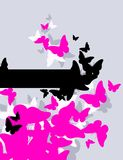 Butterflies. Vector illustration. Royalty Free Stock Photography