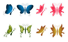Butterflies vector for your design Royalty Free Stock Photos