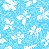 Butterflies and Waves Blue Stock Photography