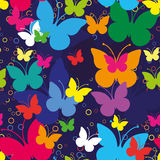 Butterfllies seamless pattern Royalty Free Stock Photography